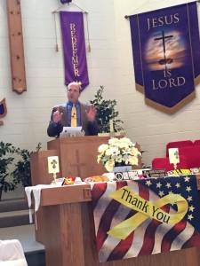 Alan preaching