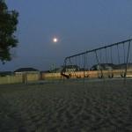 Swinging at night