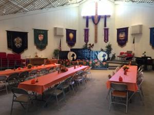 Church, pre-festival