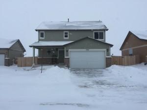 Shoveled house
