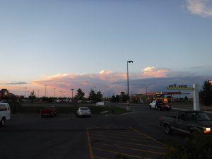 Beautiful sundown clouds