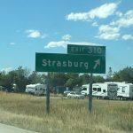 Strasburg exit 310 sign